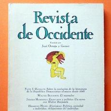 Coleccionismo de Revistas y Periódicos: REVISTA DE OCCIDENTE Nº 129 - DICIEMBRE 1973 - VV. AA. - VER INDICE. Lote 59982551