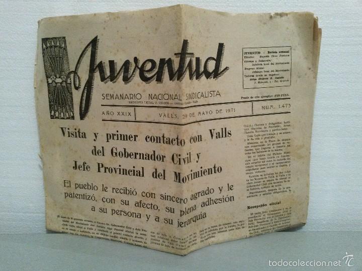 JUVENTUD SEMANARIO NACIONAL SINDICALISTA VALLS 1971 Nº 1473. (Coleccionismo - Revistas y Periódicos Modernos (a partir de 1.940) - Otros)