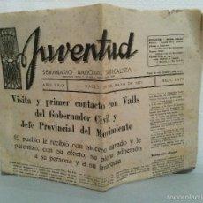 Coleccionismo de Revistas y Periódicos: JUVENTUD SEMANARIO NACIONAL SINDICALISTA VALLS 1971 Nº 1473.. Lote 60004551