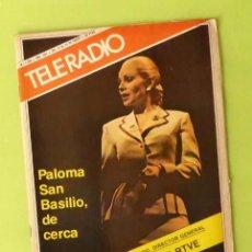 Coleccionismo de Revistas y Periódicos: TELERADIO Nº 1204 (ENERO 1981) - PALOMA SAN BASILIO, JUAN CARLOS CALDERÓN, FERNANDO MENDEZ-LEITE. Lote 60083591