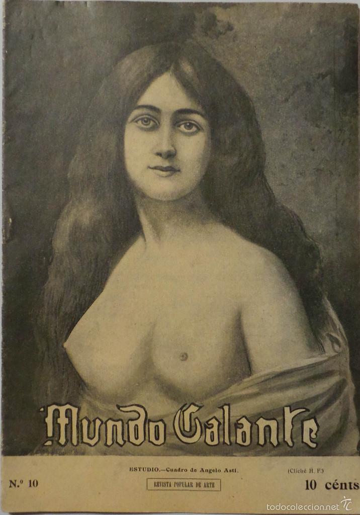 PERIÓDICO 1912 MUNDO GALANTE Nº 10 (Coleccionismo - Revistas y Periódicos Antiguos (hasta 1.939))