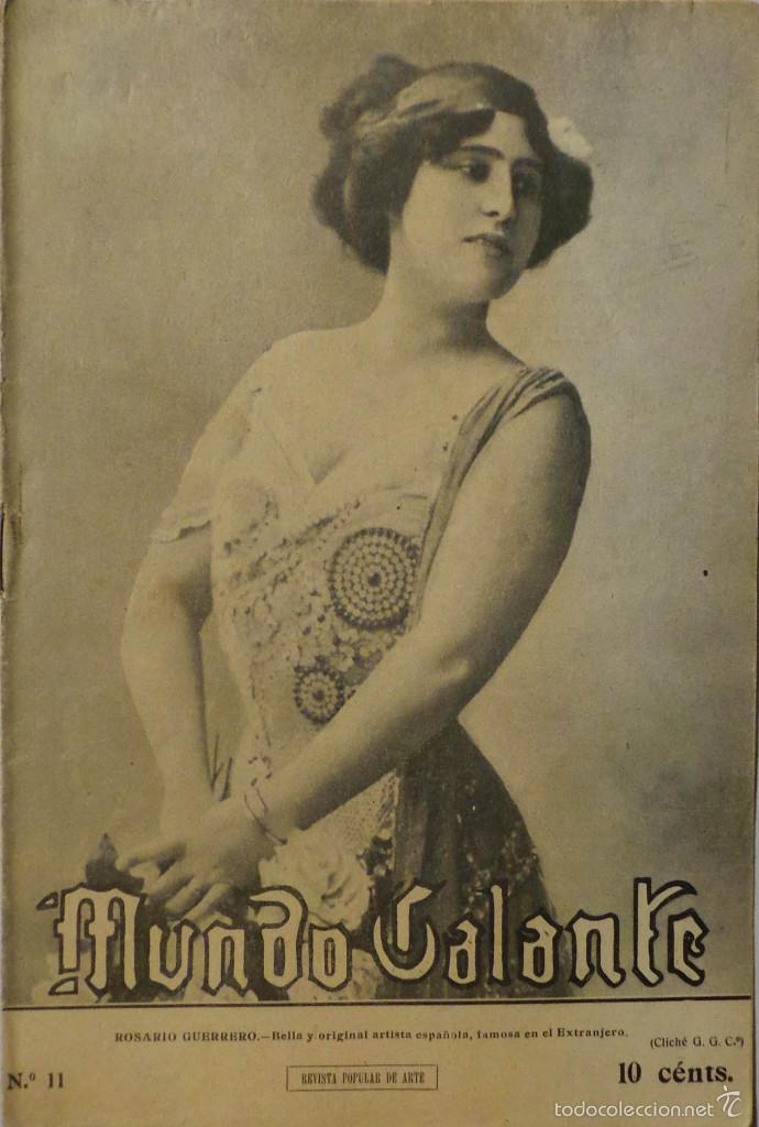 PERIÓDICO 1912 MUNDO GALANTE Nº 11 (Coleccionismo - Revistas y Periódicos Antiguos (hasta 1.939))