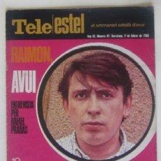 Coleccionismo de Revistas y Periódicos: TELE ESTEL DEL 9 DE FEBRERO DE 1982 - RAIMON. Lote 60201095