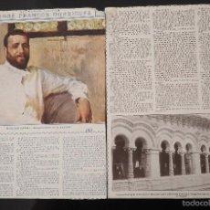 Coleccionismo de Revistas y Periódicos: HOJA REVISTA ORIGINAL 1916. ENTREVISTA A JOSE FRANCOS RODRIGUEZ. Lote 60215571