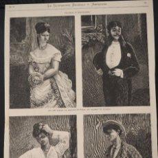 Coleccionismo de Revistas y Periódicos: HOJA GRABADO REVISTA ORIGINAL SIGLO XIX. BAILARINES DE HABANERAS MERENDEROS AFUERAS MADRID. Lote 60216147