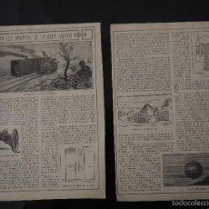 Coleccionismo de Revistas y Periódicos: REPORTAJE PRENSA ORIGINAL ANTIGUO. LOS INVENTOS DE LA OTRA GUERRA. Lote 60221655