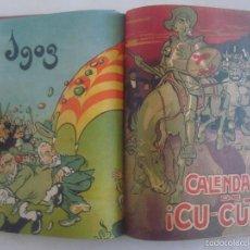 Coleccionismo de Revistas y Periódicos: CALENDARI DEL CU-CUT. 1903.1904.1905. FOLIO ENCUADERNACIÓN PIEL. MUY ILUSTRADO. Lote 60353971