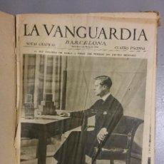 Coleccionismo de Revistas y Periódicos: GF0011 LA VANGUARDIA MIÉRCOLES Nº DEL 4 DE MARZO AL 17 DE JULIO DE 1936. Lote 60354999