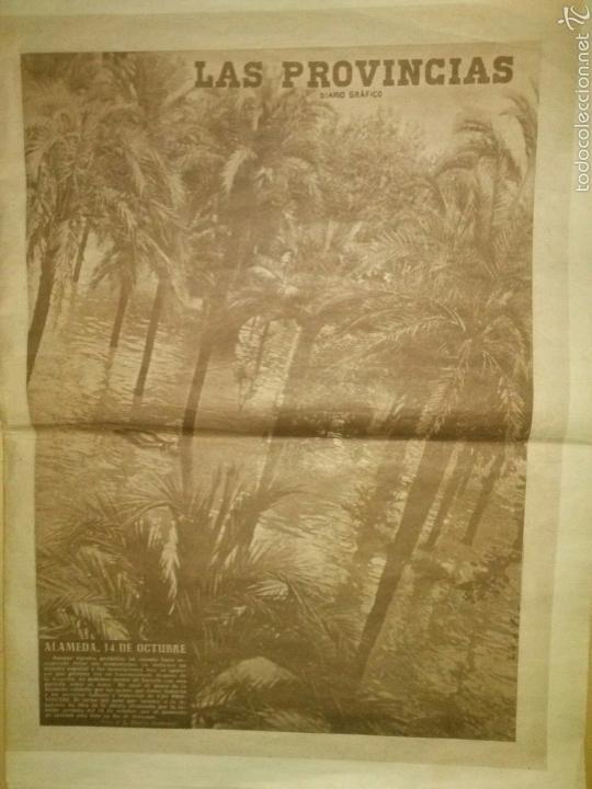 LAS PROVINCIAS-HISTORICO NUMERO 14 DE OCTUBRE DE 1957,RIADA DE VALENCIA. (Coleccionismo - Revistas y Periódicos Modernos (a partir de 1.940) - Otros)