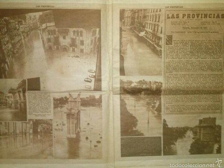 Coleccionismo de Revistas y Periódicos: LAS PROVINCIAS-Historico numero 14 de Octubre de 1957,riada de Valencia. - Foto 2 - 60436958