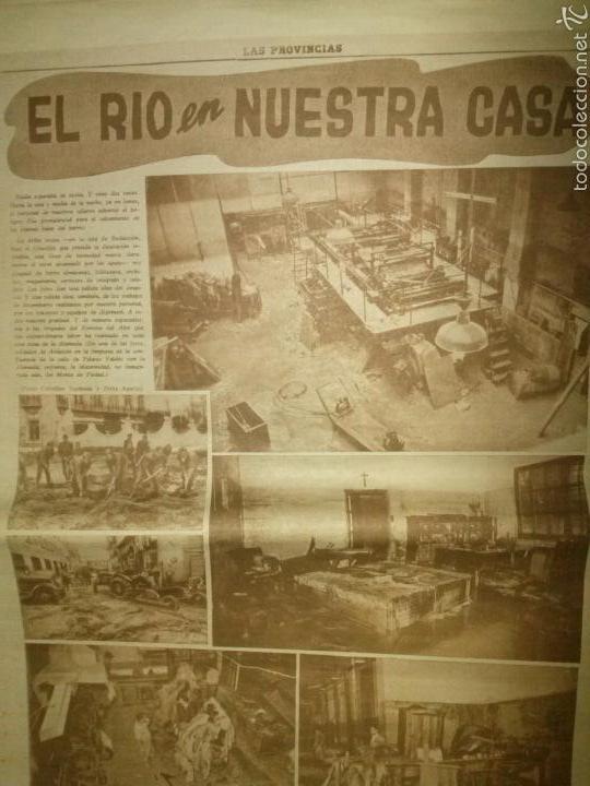 Coleccionismo de Revistas y Periódicos: LAS PROVINCIAS-Historico numero 14 de Octubre de 1957,riada de Valencia. - Foto 4 - 60436958