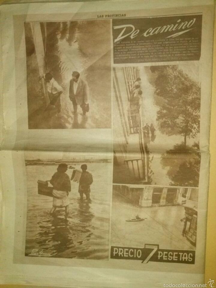 Coleccionismo de Revistas y Periódicos: LAS PROVINCIAS-Historico numero 14 de Octubre de 1957,riada de Valencia. - Foto 5 - 60436958