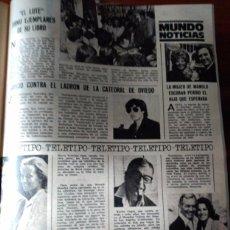 Coleccionismo de Revistas y Periódicos: RECORTE XAVIER CUGAT DAVID JANSSEN FLORINDA BOLKAN MANOLO ESCOBAR EL LUTE . Lote 60508547