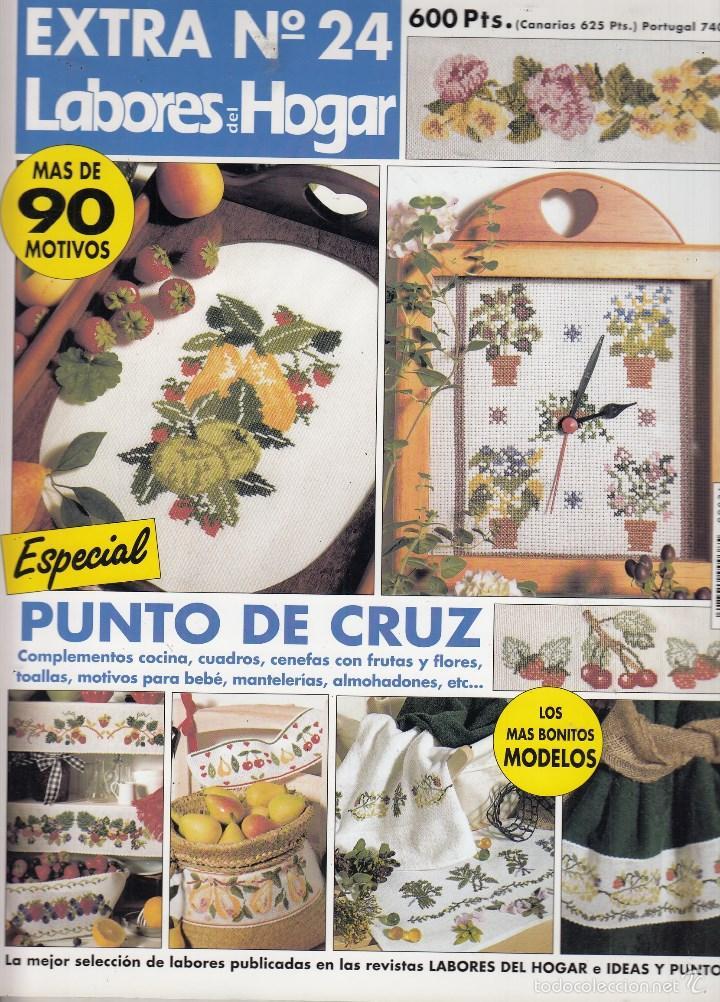 Extra labores del hogar n 24 punto de cruz c comprar for Cuadros cocina punto de cruz