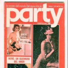 Coleccionismo de Revistas y Periódicos: PARTY MABEL ESCAÑO EXTENSO REPORTAJE FOTOGRAFICO ESPECIAL Nº 18 FEBRERO DE 1979. Lote 60647179