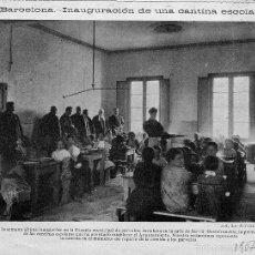 Coleccionismo de Revistas y Periódicos: BARCELONA 1907 CANTINA ESCOLAR HOJA REVISTA. Lote 60688235