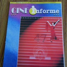 Coleccionismo de Revistas y Periódicos: CINE INFORME PRIMERA REVISTA DEL MERCADO CINEMATOGRÁFICO ESPAÑOL FESTIVAL DE CINE SAN SEBASTIÁN 1999. Lote 60730095