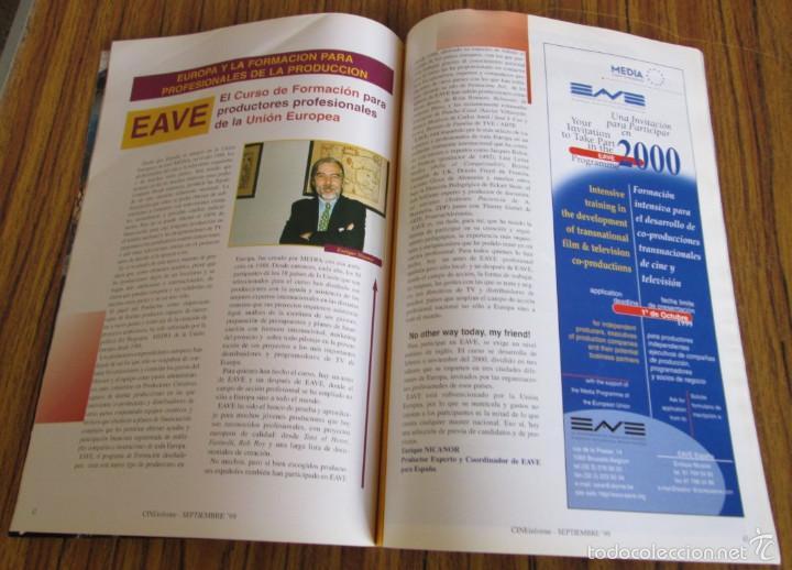 Coleccionismo de Revistas y Periódicos: CINE INFORME Primera revista del mercado cinematográfico español Festival de cine San Sebastián 1999 - Foto 3 - 60730095