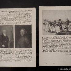 Coleccionismo de Revistas y Periódicos: REPORTAJE REVISTA ORIGINAL AÑOS 20. LA EXPOSICIÓN DE PINTURA ESPAÑOLA EN PARÍS. Lote 60743135