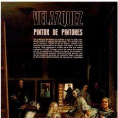 Coleccionismo de Revistas y Periódicos: VELÁZQUEZ, PINTOR DE PINTORES MUSEO DEL PRADO 32 PAGINAS MD255. Lote 60890151