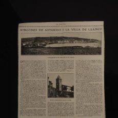 Coleccionismo de Revistas y Periódicos: HOJA REVISTA ORIGINAL1915. RINCONES DE ASTURIAS. LA VILLA DE LUANCO. Lote 60946947