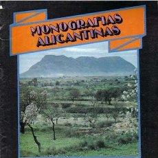 Coleccionismo de Revistas y Periódicos: MONOGRAFIAS ALICANTINAS Nº 9, PEDANIAS DE ALICANTE, DIARIO INFORMACION 1988. Lote 60955347