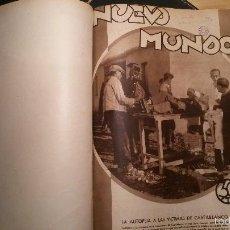 Coleccionismo de Revistas y Periódicos: REVISTA NUEVO MUNDO TODOS LOS NÚMEROS ENERO-JUNIO DE 1932. Lote 60957295