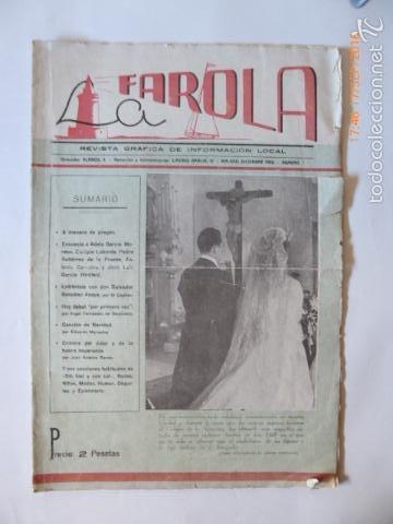MALAGA REVISTA, LA FAROLA.GRAFICA LOCAL. (Coleccionismo - Revistas y Periódicos Antiguos (hasta 1.939))
