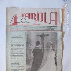 Coleccionismo de Revistas y Periódicos: MALAGA REVISTA, LA FAROLA.GRAFICA LOCAL.. Lote 61009215
