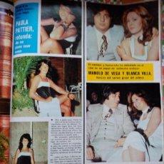 Coleccionismo de Revistas y Periódicos: RECORTE PAULA PATTIER MANOLO DE LA VEGA BLANCA VILLA ALFREDO LANDA. Lote 61039507