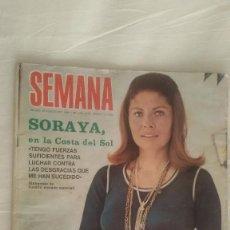 Coleccionismo de Revistas y Periódicos: SEMANA. NUMERO 1.697. 26-08-1972. SORAYA EN LA COSTA DEL SOL, EL CORDOBES Y SU HIJA, TONY ROLAND. Lote 61173343