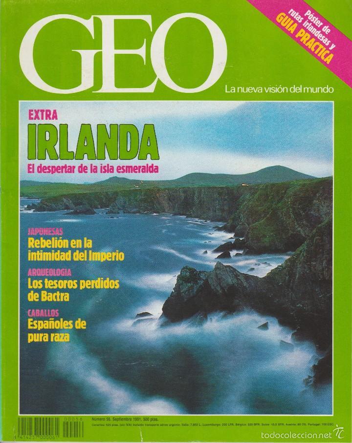 REVISTA GEO + IRLANDA + NÚM. 56 + 1991 (Coleccionismo - Revistas y Periódicos Modernos (a partir de 1.940) - Otros)