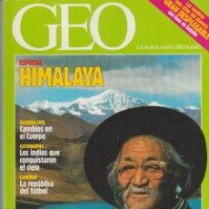 Coleccionismo de Revistas y Periódicos: REVISTA GEO + HIMALAYA + NÚM. 55 + 1991. Lote 61191183
