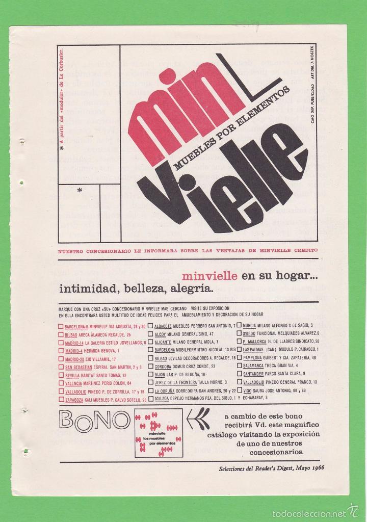 publicidad 1966. anuncio minvielle. muebles por - Comprar Otras ...