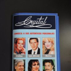 Coleccionismo de Revistas y Periódicos: TELE INDISCRETA - SERIE TV CRYSTAL - CONOZCA A SUS PERSONAJES - ARCHIVADOR Y 15 FICHAS - COMPLETA. Lote 61204999