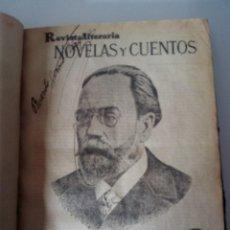 Coleccionismo de Revistas y Periódicos: 14 REVISTAS ENCUADERNADAS REVISTA LITERARIA NOVELAS Y CUENTOS. Lote 61253007