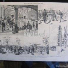 Coleccionismo de Revistas y Periódicos: GRABADO 1880. REVISTA ILUSTRADA DE PARIS, POR PELLICER (399). Lote 61266271