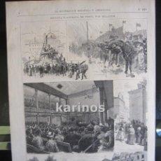 Coleccionismo de Revistas y Periódicos: GRABADO 1880. REVISTA ILUSTRADA DE PARÍS, POR PELLICER (B3). Lote 61300971