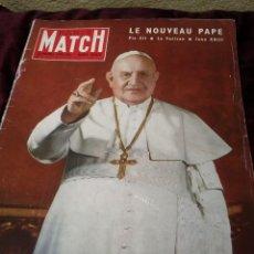 Coleccionismo de Revistas y Periódicos: REVISTA PARIS MATCH DE 1958, NUMERO DEDICADO A JUAN XXIII. Lote 61358873