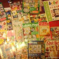 Coleccionismo de Revistas y Periódicos: GRAN LOTE DE 52 REVISTAS DE LABORES, GANCHILLO, PUNTO DE CRUZ, ETC. Lote 72715499