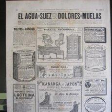 Coleccionismo de Revistas y Periódicos: GRABADO 1880. PUBLICIDAD. (B143). Lote 61395055