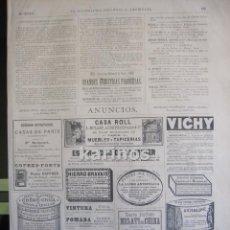 Coleccionismo de Revistas y Periódicos: GRABADO 1880. PUBLICIDAD. (B183). Lote 61399903