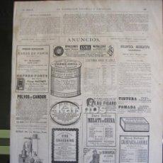 Coleccionismo de Revistas y Periódicos: GRABADO 1880. PUBLICIDAD. (B247). Lote 61412163