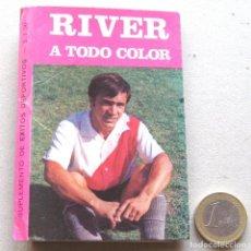 Coleccionismo de Revistas y Periódicos: MINI REVISTA CA RIVER PLATE A TODO COLOR EXITOS DEPORTIVOS 1971 CROMO STICKER. Lote 61463979