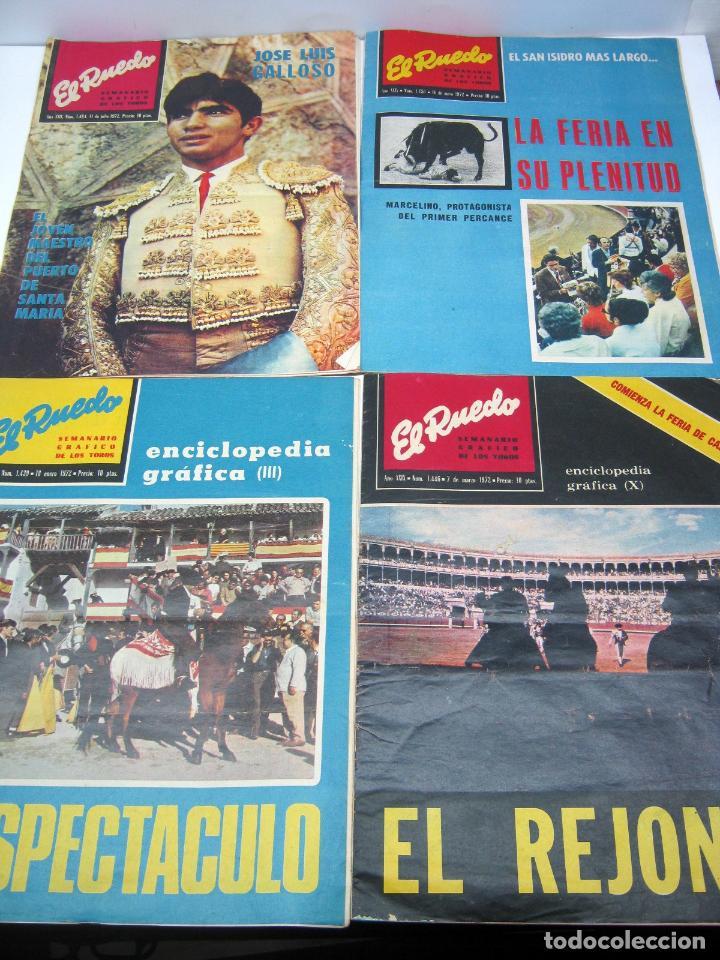 Coleccionismo de Revistas y Periódicos: lote 23 revistas tauromaquia El Ruedo - año 1972 Plazas Ferias Toreros suertes etc - Foto 2 - 61504891