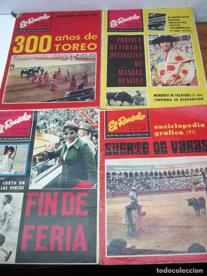 Coleccionismo de Revistas y Periódicos: lote 23 revistas tauromaquia El Ruedo - año 1972 Plazas Ferias Toreros suertes etc - Foto 3 - 61504891