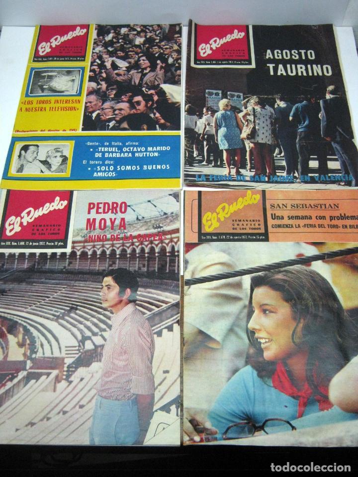 Coleccionismo de Revistas y Periódicos: lote 23 revistas tauromaquia El Ruedo - año 1972 Plazas Ferias Toreros suertes etc - Foto 4 - 61504891