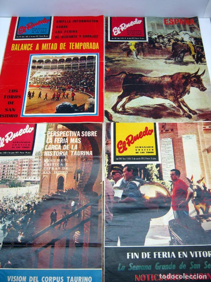 Coleccionismo de Revistas y Periódicos: lote 23 revistas tauromaquia El Ruedo - año 1972 Plazas Ferias Toreros suertes etc - Foto 5 - 61504891