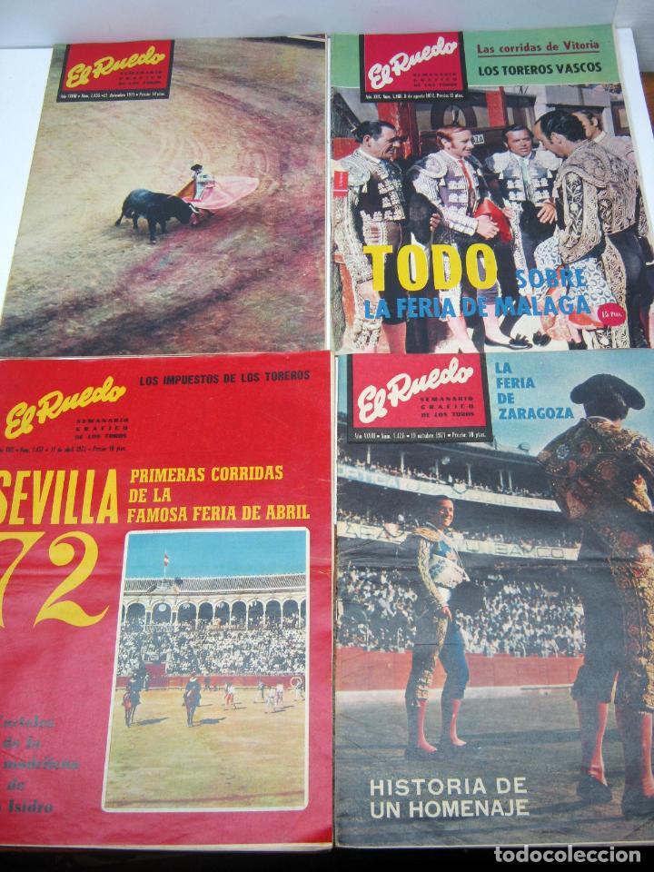 Coleccionismo de Revistas y Periódicos: lote 23 revistas tauromaquia El Ruedo - año 1972 Plazas Ferias Toreros suertes etc - Foto 6 - 61504891