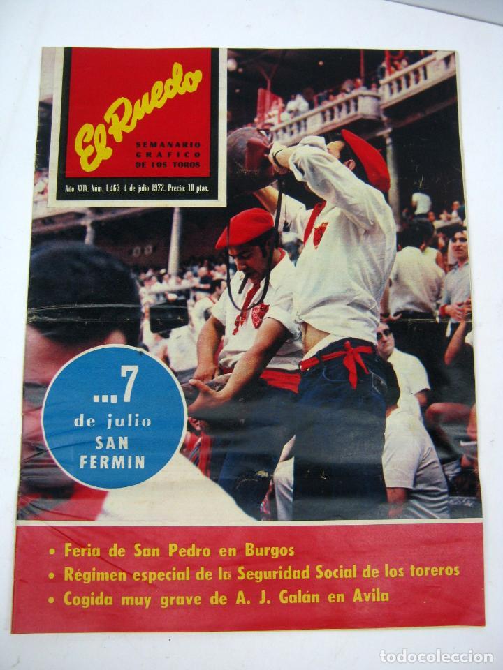 Coleccionismo de Revistas y Periódicos: lote 23 revistas tauromaquia El Ruedo - año 1972 Plazas Ferias Toreros suertes etc - Foto 8 - 61504891